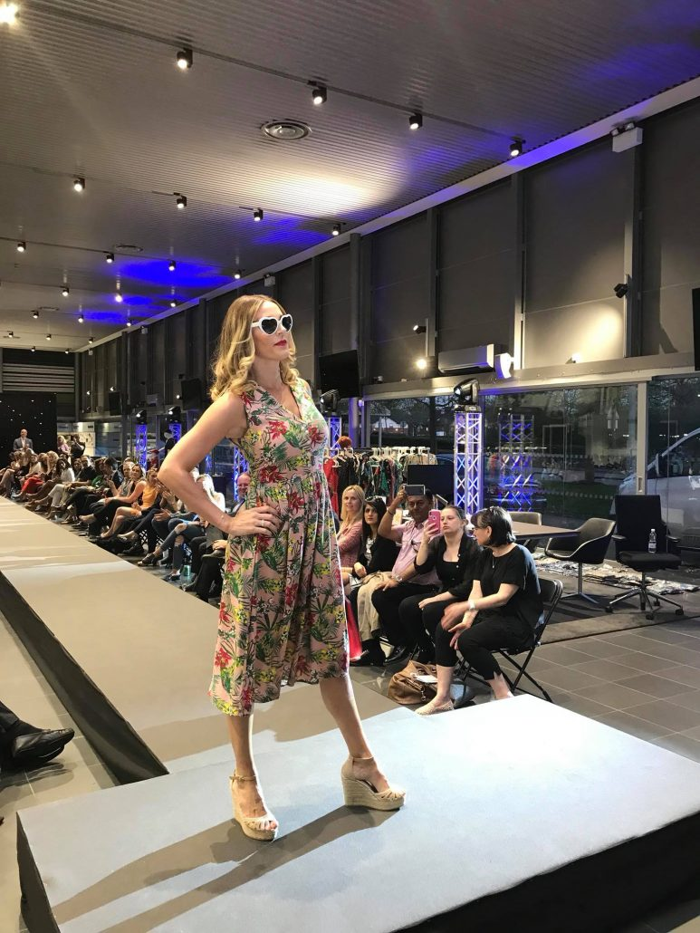 women on catwalk